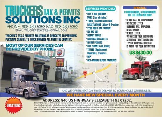Truckers Tax & Permits