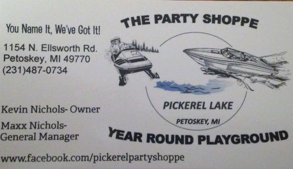 Party Shoppe On Pickerel Lake