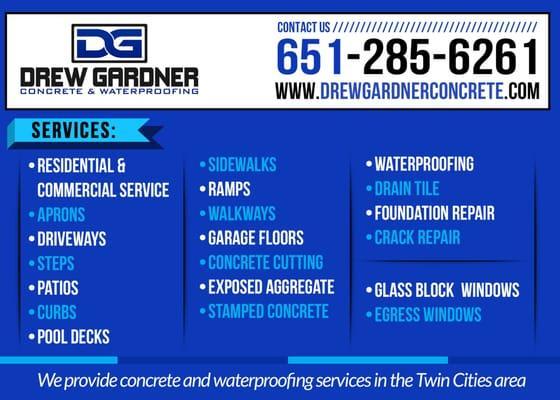 Drew Gardner Concrete and Waterproofing
