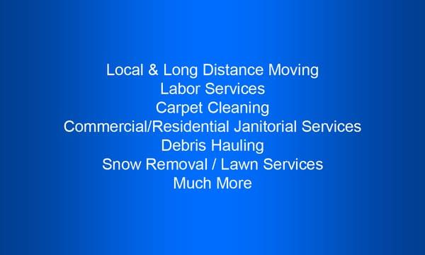 Limitless Moving and Labor Services