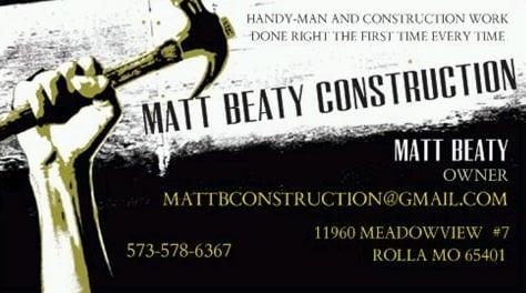 Matt Beaty Construction