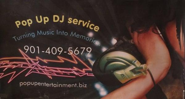 Pop Up Dj Service