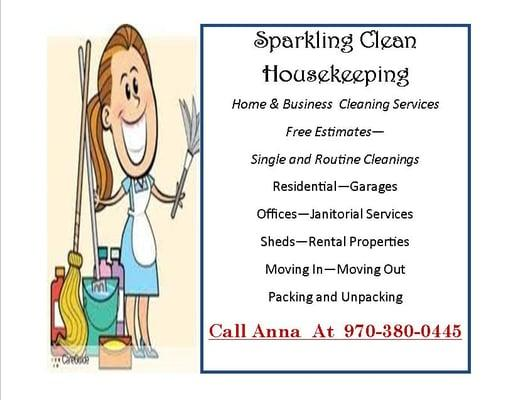 Sparkling Clean Housekeeping Service