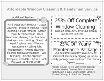 Affordable Window Cleaning & Handyman Service