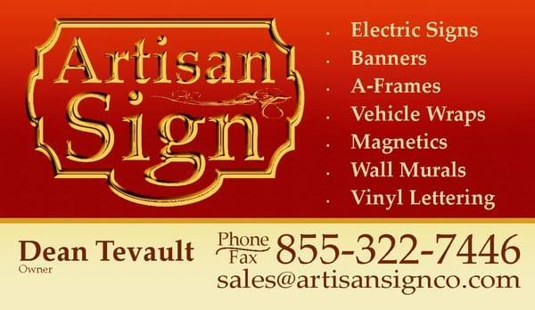 Artisan Sign