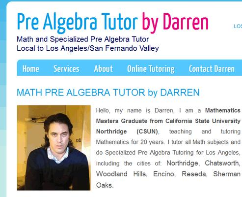Pre Algebra Tutor