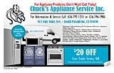Chuck's Appliance Service