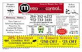Metro Pest Control (termite)