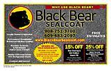 Black Bear Sealcoat
