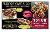 Europe Cafe And Grill