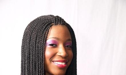 Pretty African hair braiding
