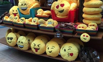 Emoji Pillow Kiosk in Rivertown Mall
