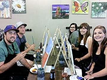 Sipping N' Painting