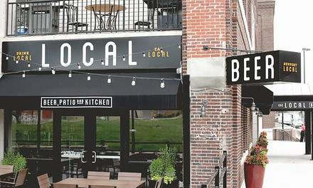 Local Beer, Patio and Kitchen