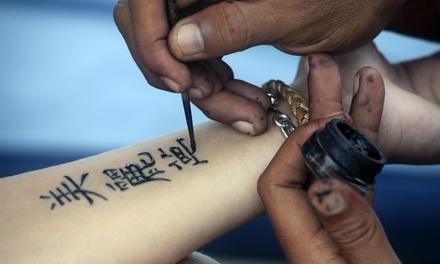 Time square henna tattoos