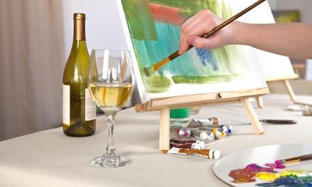 Wet Paint and Palette (Paint On Canvas & Entertainment)
