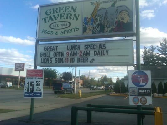Green Tavern & Grill