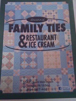 Stearns Family Ties Restaurant