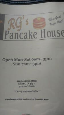 RG's Pancake House
