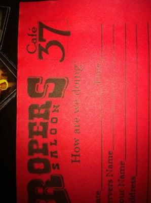Cafe 37 & Roper's Saloon