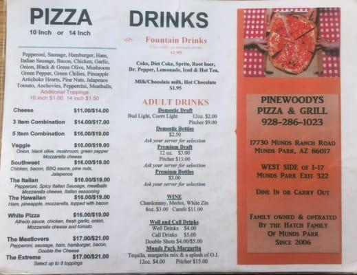 Pine Woody's Pizza & Grille