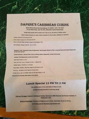 Daphne's Caribbean Cusine