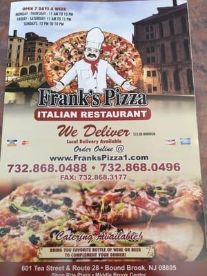 Frank's Pizza Italian Restaurant