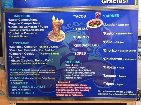 Mariscos y Tacos Ana's Mexican Food