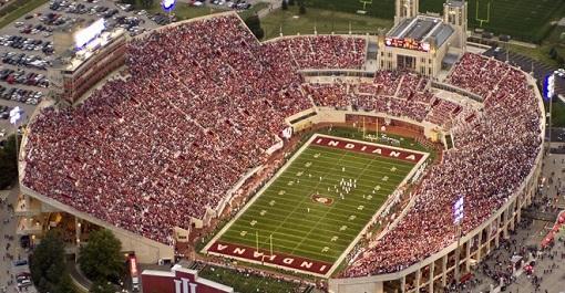 Indiana Hoosiers Football at Memorial Stadium