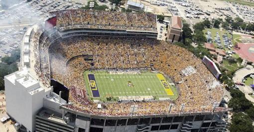 NCAA LSU Football at Tiger Stadium