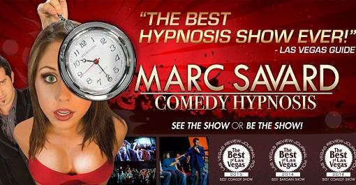 Marc Savard Comedy Hypnosis at V Theater Las Vegas