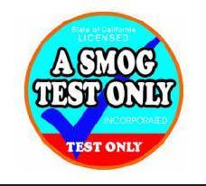 A Smog Test Only/ Petaluma