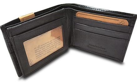 LL Genuine Leather Men's Bi-Fold Wallet