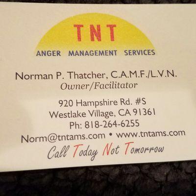 TNT Anger Management Services