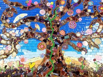 Mosaic On A Stick