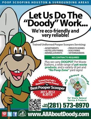 All About Doody Pet Waste Removal Service & Products