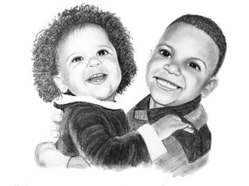 Custom Charcoal Portraits
