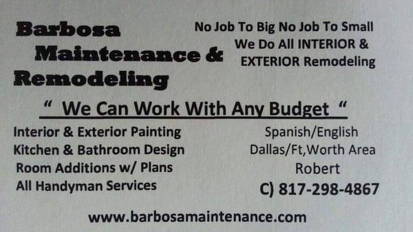 Barbosa Maintenance