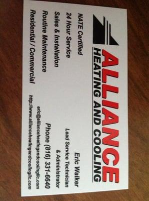 Alliance Heating and Cooling
