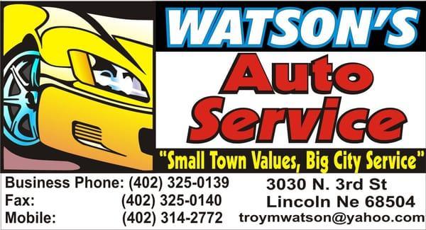 Watson Auto Service