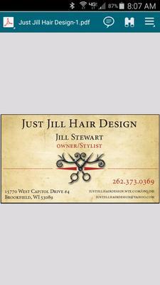 Just Jill Hair Design