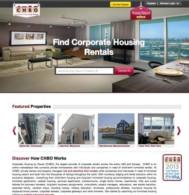 CHBO / Corporate Housing by Owner