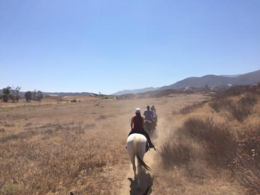 Lil Bit of Country on Horseback