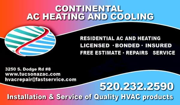 Continental A/C & Heating Inc