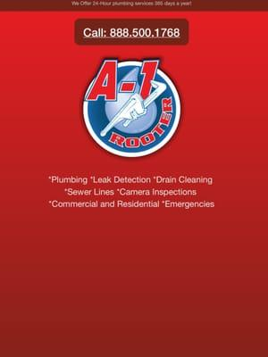 A1 Rooter Complete Plumbing and Drain Cleaning