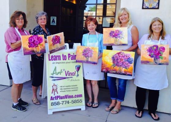 Art Plus Vino Art Classes