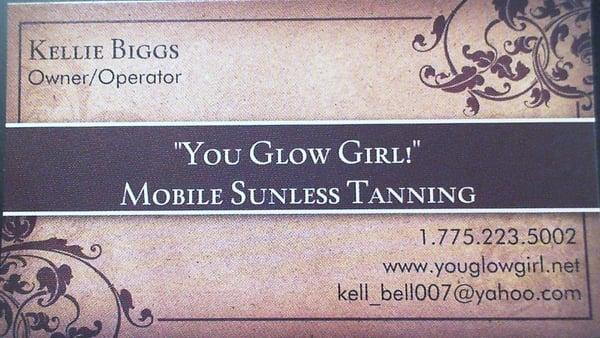"""You Glow Girl!""  Sunless Mobile Spray Tanning"