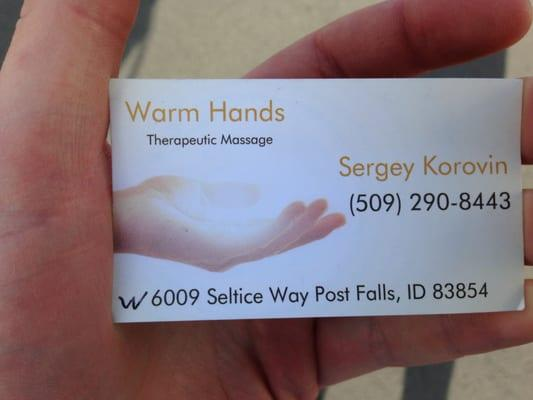 Warm Hands Therapeutic Massage