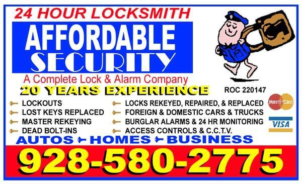 Affordable Security Locksmith & Alarm