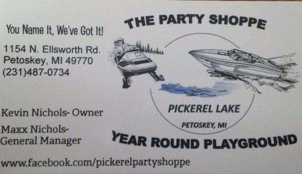 Party Shoppe On Pickerel Lake